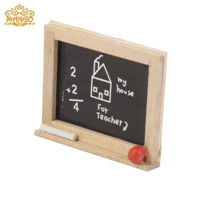 雜貨小鋪 1:12娃娃屋dollhouse迷你家具模型兒童房配件道具 可愛木質小黑板