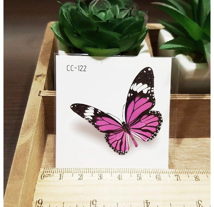 【萌古屋】花朵單圖CC-122 - 防水紋身貼紙刺青貼紙K37