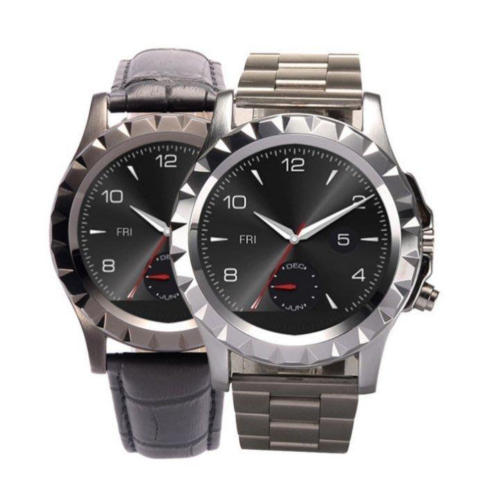 圓屏智慧藍牙手錶T2 男士鋼表健康檢測管理運動心率手錶體溫 #861