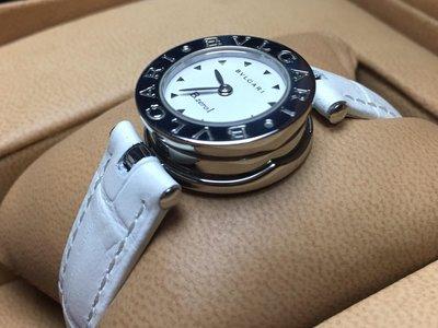 BVLGARI 寶格麗 B.zero1系列 BZ22S 白色面盤腕錶