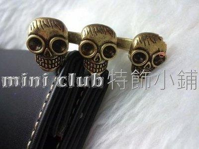 mini club特飾小鋪**全新 日韓款式 復古 古銅色 三骷髏頭 介指 雙戒指** $10