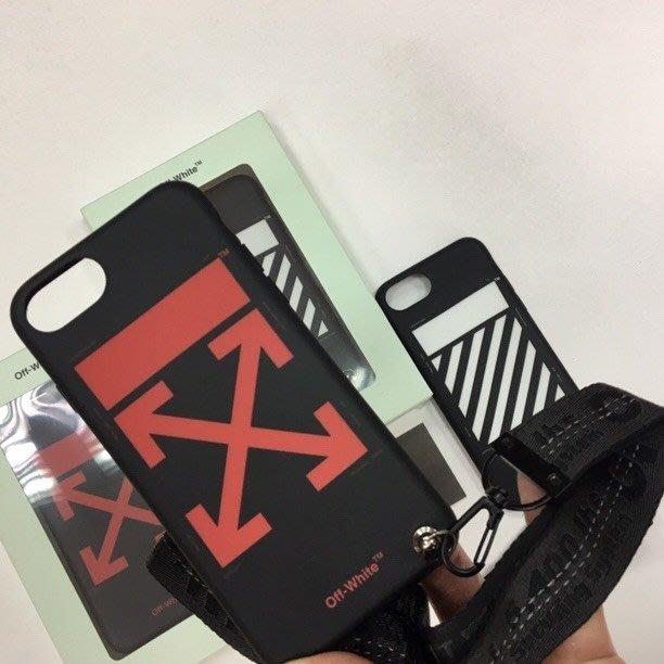 [ 羅崴森林 ] 現貨OFF-WHITE FW1819 arrow logo iPhone 8附掛飾手機殼