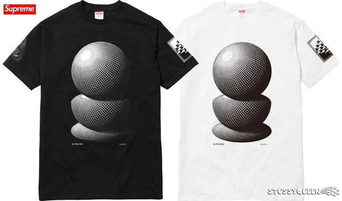 【超搶手】】全新正品 2017 聯名Supreme M.C. Escher Three Spheres Tee S M