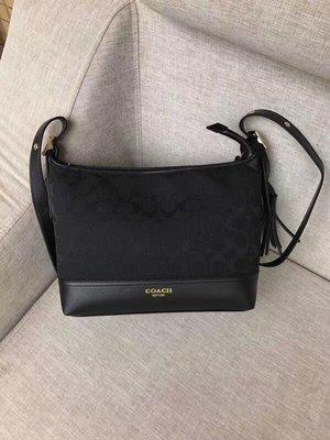 【紐約女王代購】COACH 寇馳 25664 熱賣新款流蘇帆布包 款式3 斜背包 美國代購