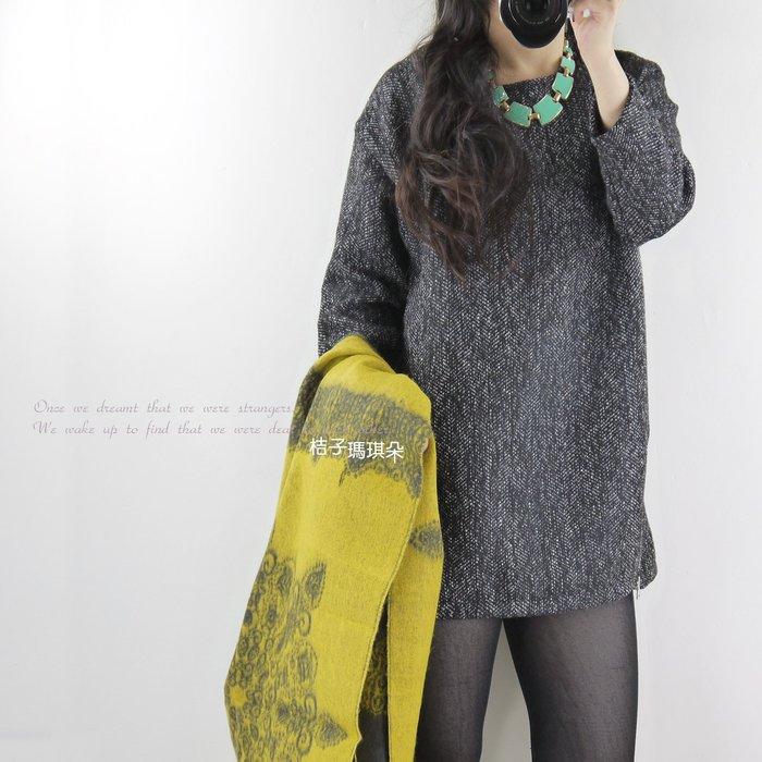 正韓 韓國空運 洋裝 小香雪花斜紋毛呢-桔子瑪琪朵