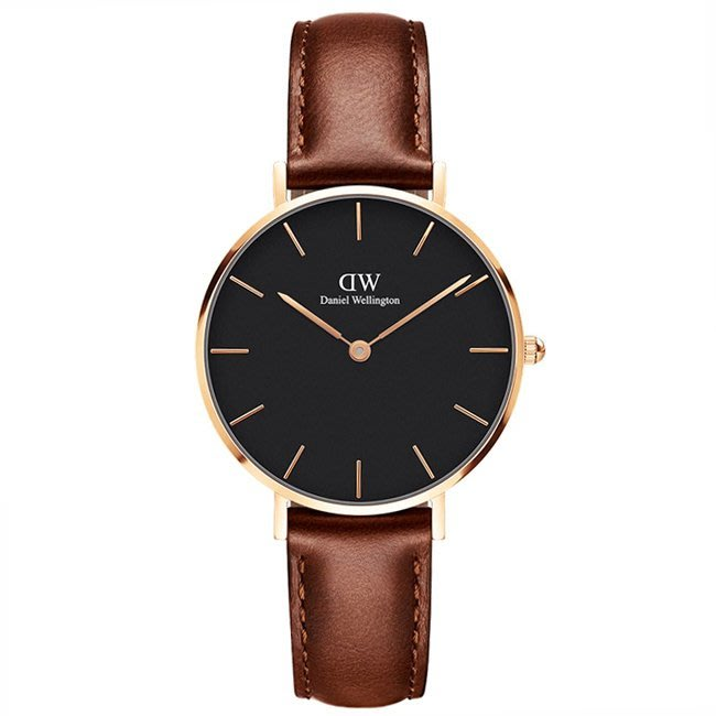 Amily 艾美麗_經典咖啡色皮革腕錶(00100169)【DW】