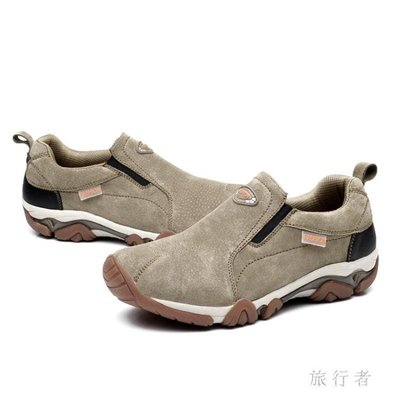 夏新款男士真皮戶外登山鞋透氣牛筋底耐磨運動鞋 BF4616【旅行者】 全館免運