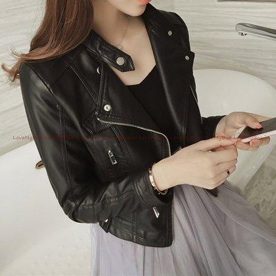 *韓國連線 正韓*超顯瘦柔軟 機車夾克風 高級短款皮衣.共三色:黑、白、粉(現+預7-14工作天)