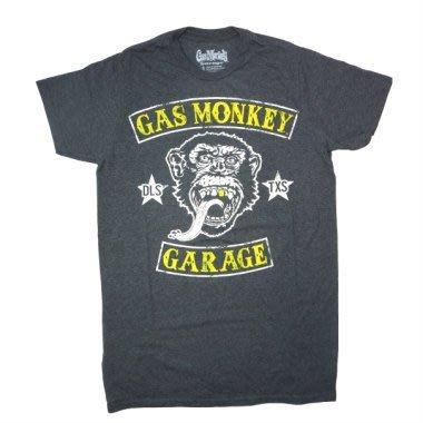 (I LOVE樂多) 美國進口 GasMonkey Garage 黃色LOGO T桖 短T