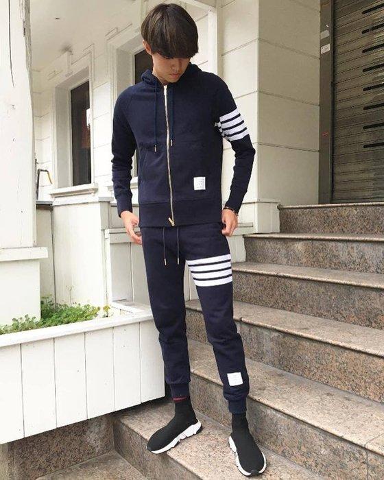 [ 羅崴森林 ] 現貨THOM BROWNE新品SS2020湯姆布朗海軍藍連帽外套