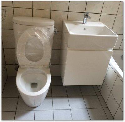 TOTO組合馬桶CW260.+TC301+臉盆L710+ 專用防水浴櫃 +無鉛龍頭TLS03301PA