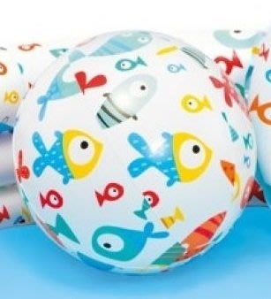 [衣林時尚] INTEX 20吋(未充氣平量51cm) 新款魚沙灘球 59040 (充氣後直徑約32cm)