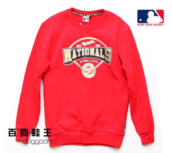 百狗衣舖 MLB 美國職棒大聯盟 華盛頓國民 Nationals  超厚超暖圓領T恤 長T 紅 王建民 天才小史
