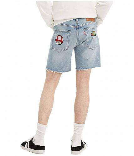 XinmOOn LEVI'S SUPER MARIO 501®93' SHORT DENIM 復刻 直筒 聯名 貼布短褲