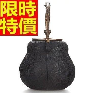 日本鐵壺-福祿雙至鑄鐵南部鐵器茶壺 64aj19[獨家進口][米蘭精品]