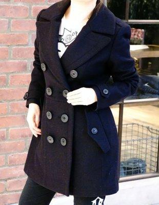Burberry 3982705 Dillsmead trench coat 羊毛外套 深藍 40