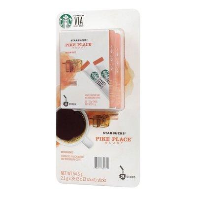 星巴克 Starbucks Via 派克市場即溶研磨咖啡(2.1g*26入)COSTCO好市多代購
