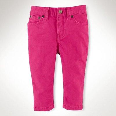 [[W&R]] ((0-24m)) RL Ralph Lauren 糖果色 skinny jeans 牛仔褲 24m