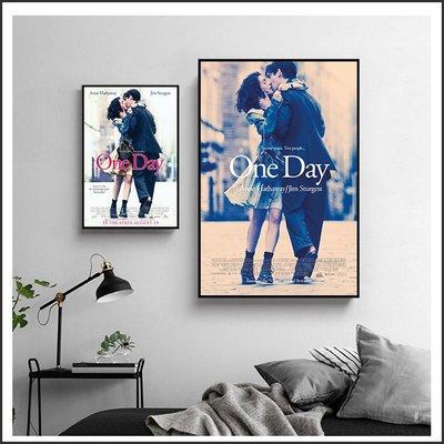日本製畫布 電影海報 真愛挑日子 One Day 掛畫 嵌框畫 @Movie PoP 賣場多款海報#