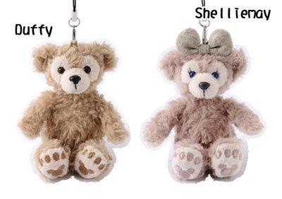 【日本迪士尼代購】Duffy 達菲熊 Shelliemay 雪莉梅 坐姿絨毛公仔娃娃手機繩吊飾 (預購)