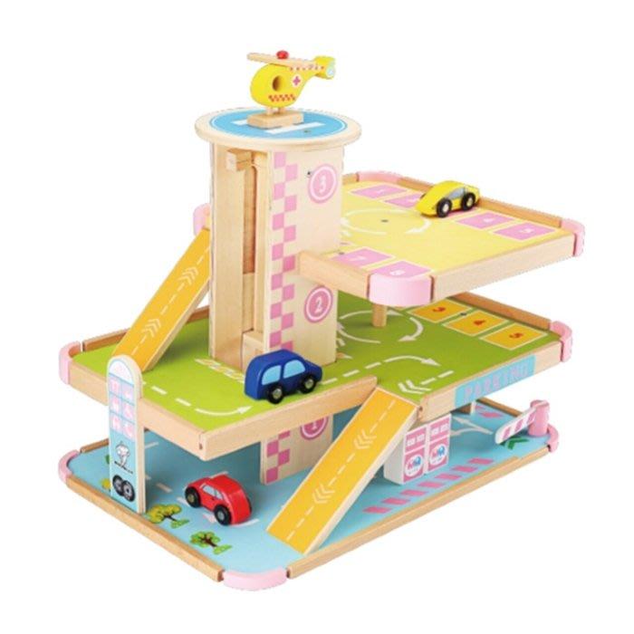 CHING-CHING親親-WOOD TOYS木製玩具組-立體停車場(MSN15048)