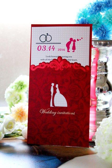 『潘朵菈精緻婚卡』影像設計喜帖 ♥ 鏤空雕刻18元喜帖系列 ♥ 喜帖編號:C-36037