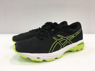【小黑體育用品】ASICS 亞瑟士 GT-1000 6 男慢跑鞋(黑*螢光黃)T7A4N-9007