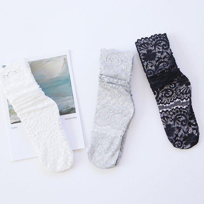 *╮S.water shop╭* 復古簍空 蕾絲/堆堆襪/花邊襪 FN#00294-3 共3色 (現貨)