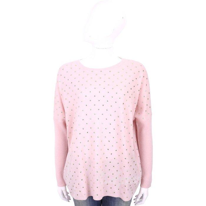 米蘭廣場 ALLUDE 喀什米爾粉色星星鉚釘飛鼠袖針織羊毛衫 1740224-05
