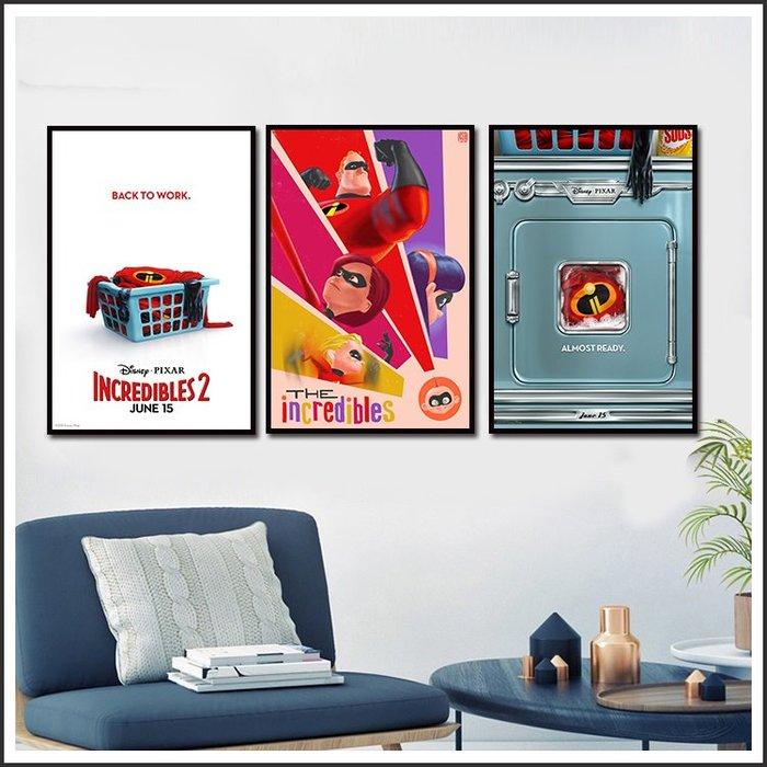 日本製畫布 電影海報 超人特攻隊 The Incredibles 掛畫 無框畫 @Movie PoP 賣場多款海報~