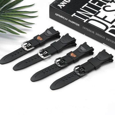Cigade電子專營 適用卡西歐手錶帶PRG-50/ PRG-60登山錶黑色樹脂橡膠手錶帶錶鍊 台北市