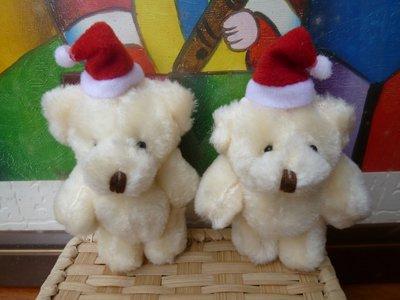 9cm長毛聖誕熊玩偶~聖誕節派對小物結婚禮小物送客禮贈品二次進場囍糖喜糖耶誕節派對熊畢業禮物來店禮開幕禮迎賓禮禮物包裝