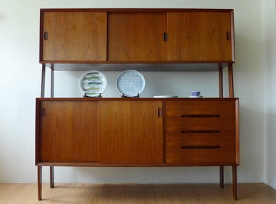 Teak double sideboard 丹麥柚木雙層櫃