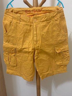 衣市藍~BIG TRAIN 工作短褲 (L~黃~) (210629)