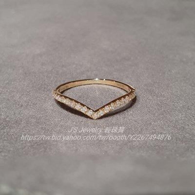 輕珠寶訂製 18K金V型鑽石戒指 21分天然真鑽 排戒 線戒 日本 tiffany agete 風格