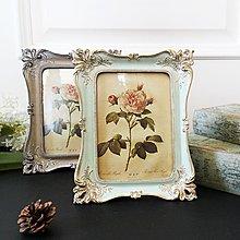 美式法式歐式雕花描金7寸相框復古優雅韓版工藝畫框創意像架擺台 最右角落