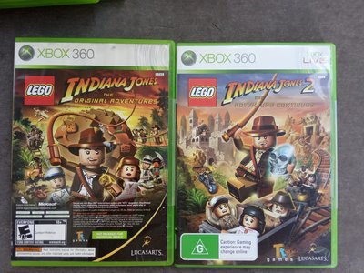 Lego Indiana Jones 1 + 2 + Kung Fu Panda xbox 360 xbox360/ONE game