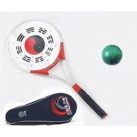 【太極柔力球套裝-矽膠拍面+鋁合金拍架-總長47cm-1套/組】(套裝 : 鋁合金拍*1+球*1+袋*1)-56014