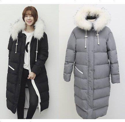 【優上精品】冬裝韓版加長款羽絨服女長過膝 超長女士棉服加厚大毛領外套(Z-P3188)