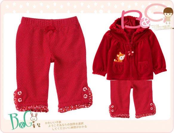 【B& G童裝】正品美國進口GYMBOREE Dot Ruffle Pant 裝飾釦點點紅色長褲12-18mos