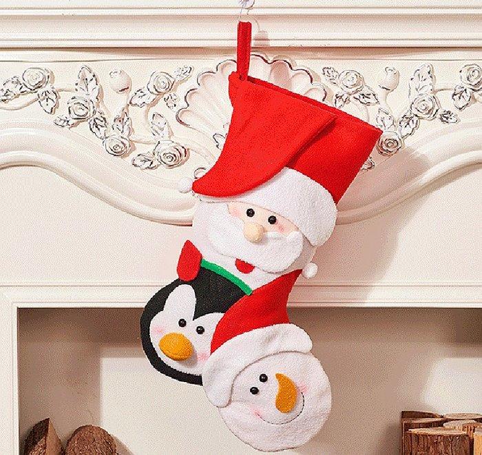 【洋洋小品可愛聖誕老公公雪人鹿聖誕襪大】禮物袋聖誕節服裝聖誕飾品聖誕襪聖誕樹LED聖誕燈聖誕佈置鹿角頭飾髮箍花圈擺飾吊飾