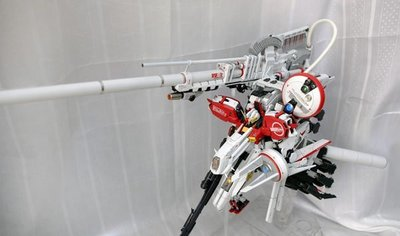 已砌 1比100 MG  DEEP STRIKER GUNDAM G SYSTEM 改件 高達模型系列 上色完成品