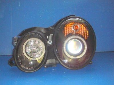 小亞車燈╠ 全新超炫BENZ W208 CLK黑框光圈魚眼大燈