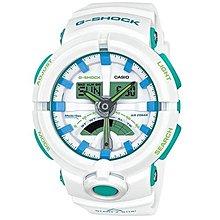 [永達利鐘錶] G-SHOCK 全白X綠 反轉液晶 雙顯運動錶 GA-500WG-7ADR原廠公司貨 保固一年