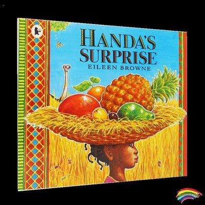 點讀版英文原版 Handa`s Surprise: Read and Share 漢娜的驚喜圖書 英國謝菲爾德兒童圖書獎 廖彩杏書單多元文化兒童繪本50佳作品