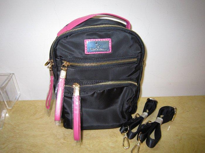 ///可愛娃娃///~B.S.D.S冰山袋鼠尼龍布後背包~休閒後背包~三用包~附2背帶~小包包---約22X18公分