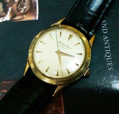 【藏家釋出】早期收藏 ◎ 約1970' 瑞士《Mathey Tissot》14K金‧機械自動上鍊錶《厚實錶殼》