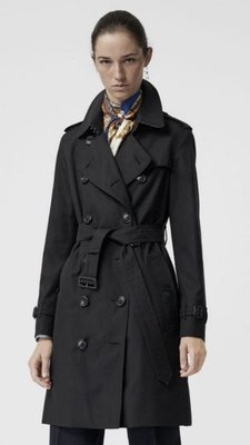 已售 BURBERRY LONDON Heritage Trench Coat 經典黑風衣