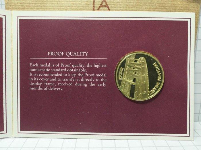 新加坡 1984年1965-1985年 獨立20年紀念 銀章 紀念幣 001
