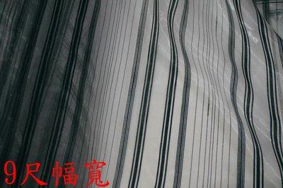 便宜地帶~S96白底黑條文現代感無接縫高級質感窗紗1尺50元~9尺幅寬~做窗紗.紗簾.佈置 桃園市